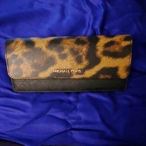 Michael Kors leopard print calf